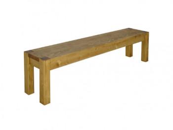 masivní dřevěná lavička