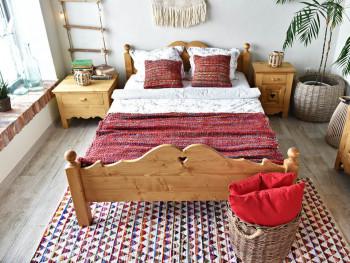 Łóżko z drewna świerkowego Mexicana