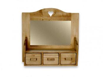 Závěsná skříň se zrcadlem ze smrkového dřeva Mexicana 2