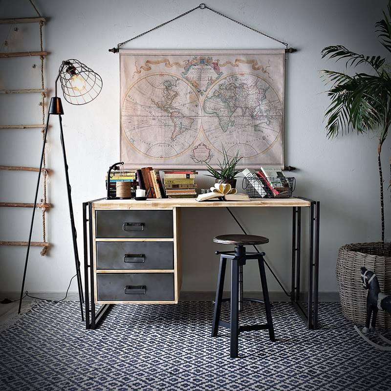 Psací stůl Steel wood