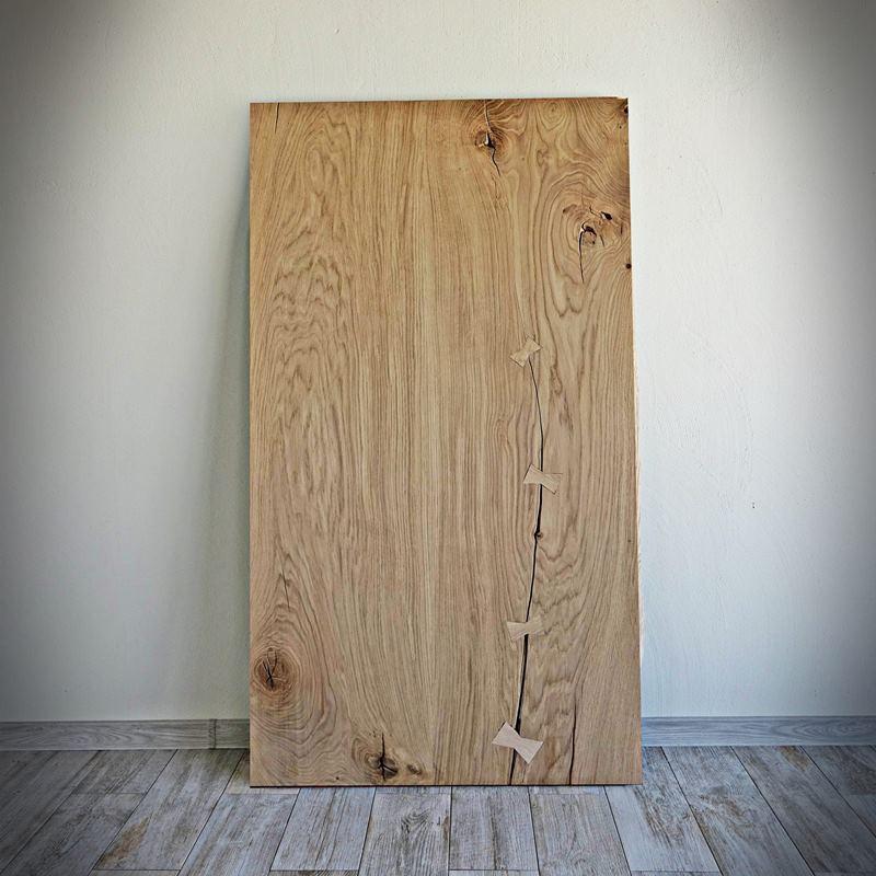 Dubová deska na stůl Antique 80 x 160 cm šedo-béžová