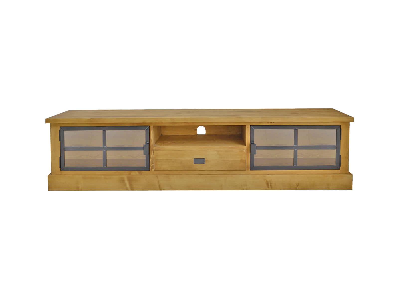 Smrkový TV stolek Industrial