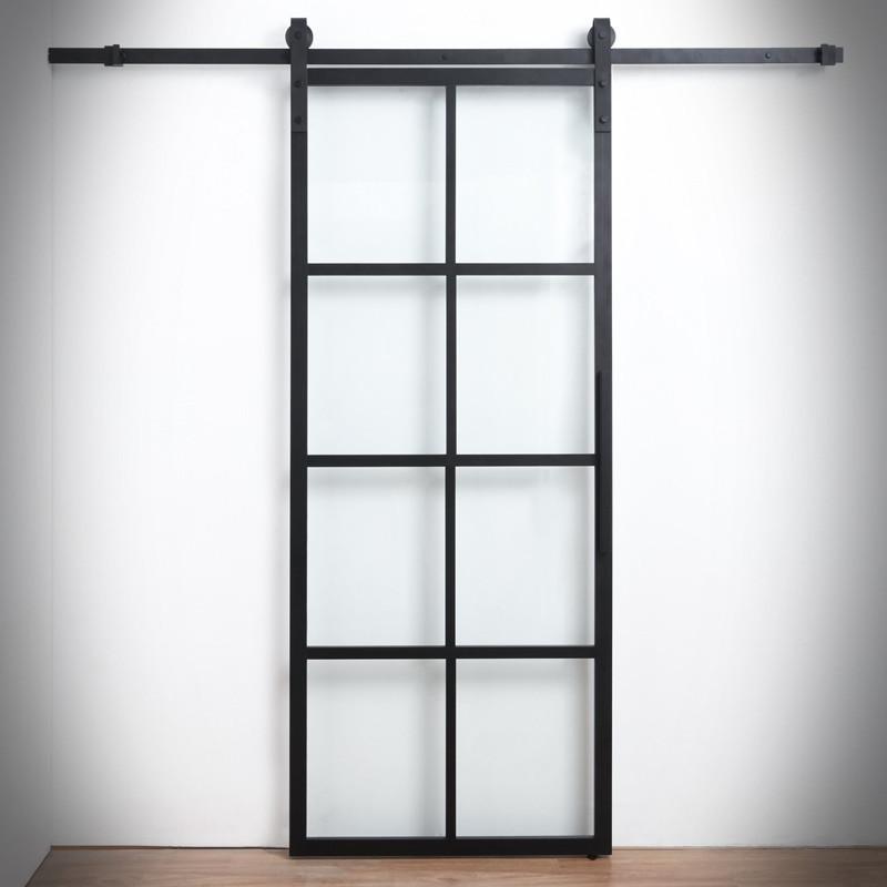 Skleněné dveře v ocelovém rámu GLOSSY