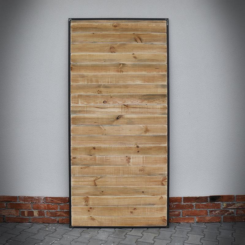 Dveře v ocelovém rámu LOFT, světle hnědé