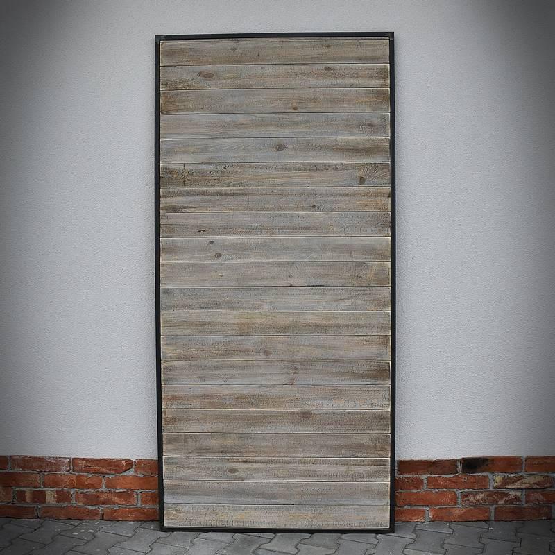 Dveře v ocelovém rámu LOFT, šedé