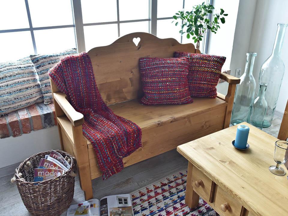 Ławka z drewna świerkowego