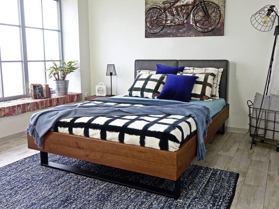 Dubová postel Stelo 180 x 200 cm
