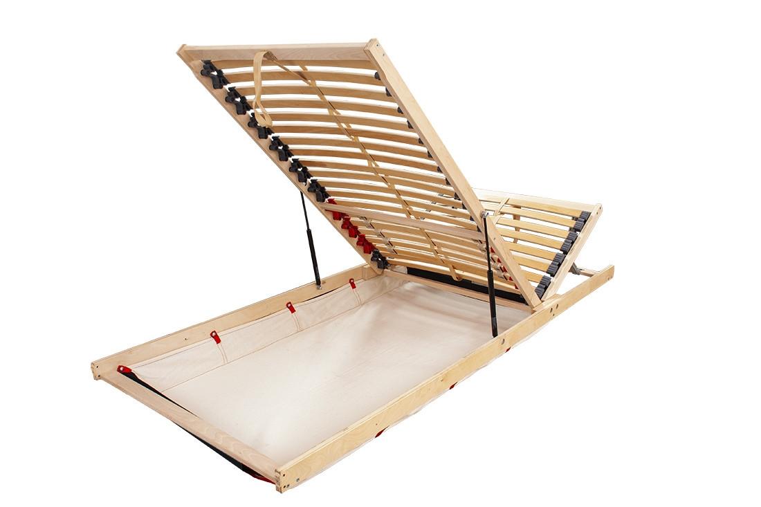 Rošt FLEX 90x200 cm, přední výklop s úložným prostorem