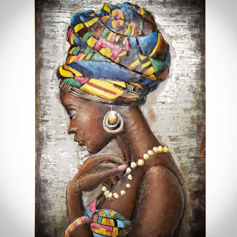 Železný 3D obraz AFRIČANKA