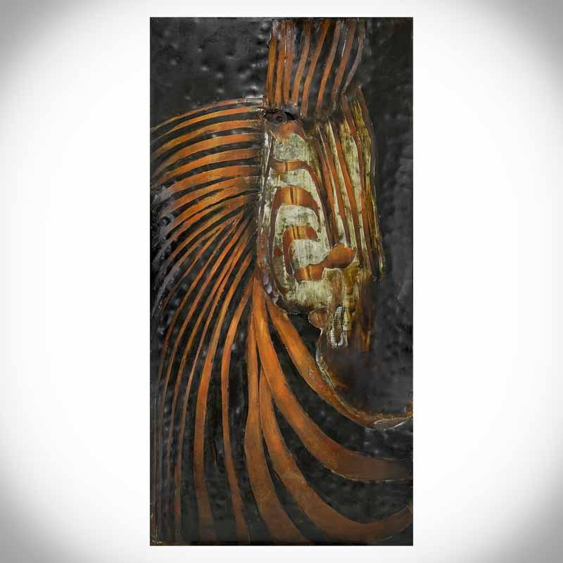 Železný 3D obraz ZEBRA