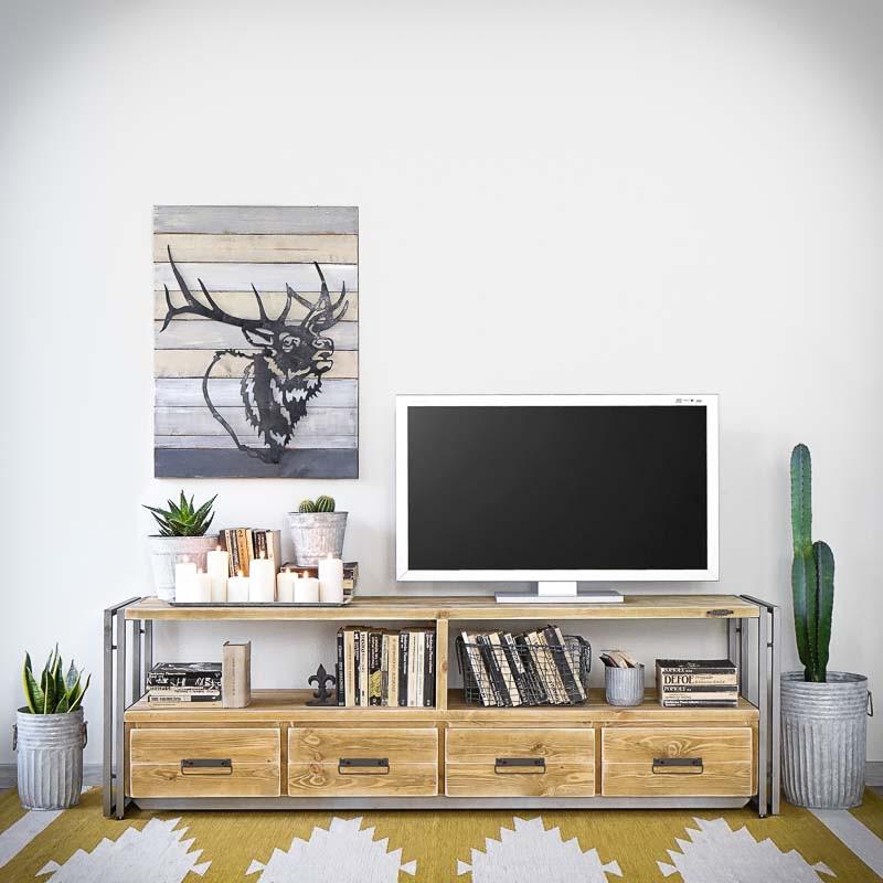 Tv stolek Steel wood 2