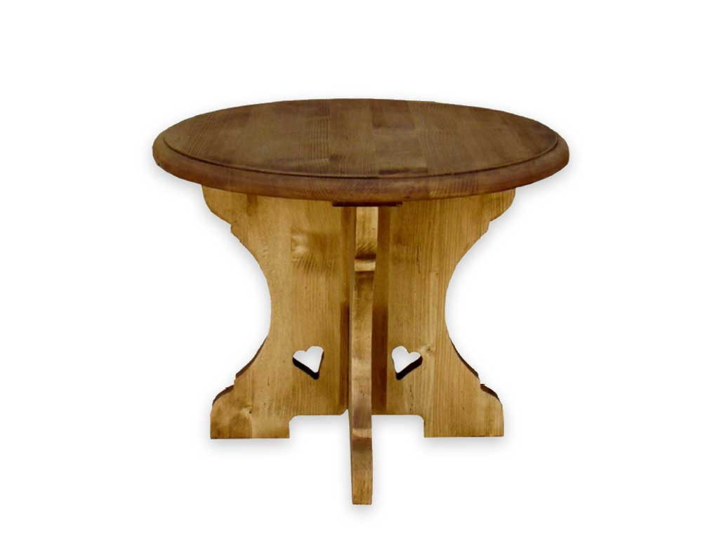 Smrkový kulatý stůl Mexicana 1