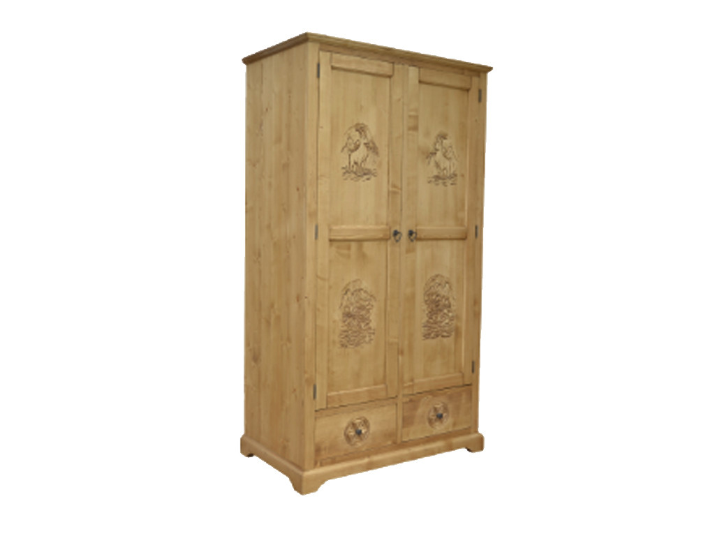 Smrková šatní skříň Jagna 1