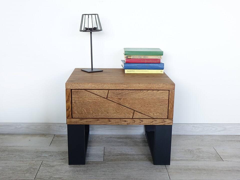 Dubový noční stolek Stelo