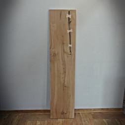 Dubová deska na lavici Antique 40 x 180 cm šedo-béžová