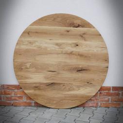 Dubová kulatá stolní deska ROTUNDA