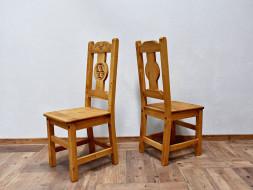 Dřevěná židle s opěradlem