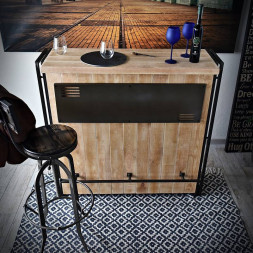 Bar Steel wood