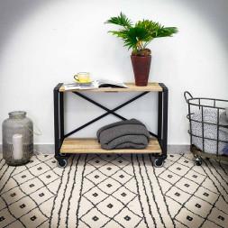 Pojízdný regál / stolek IRON 1