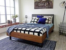 Dubová postel Stelo 140 x 200 cm