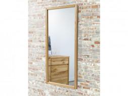 Stylowe lustro w ramie z drewna dęboweg
