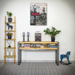 Konzole / psací stůl Steel wood