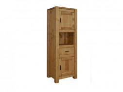 Dřevěná knihovna do obývacího pokoje