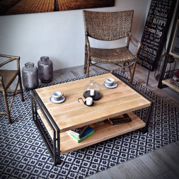 Konferenční stolek Steel wood