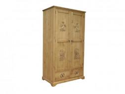 Šatní skříň ze smrkového dřeva