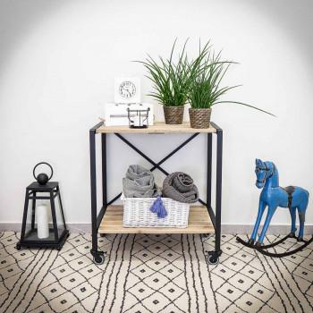 Pojízdný regál / stolek IRON 5