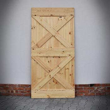 Borovicové dveře CRISS-CROSS