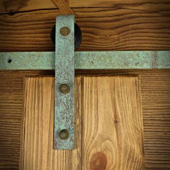 Systém posuvných dveří OLD zelená patina