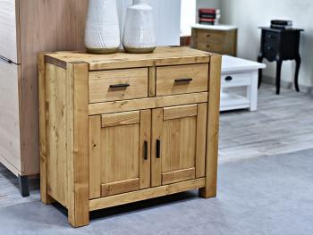 Dvoudvěřová dřevěná komoda