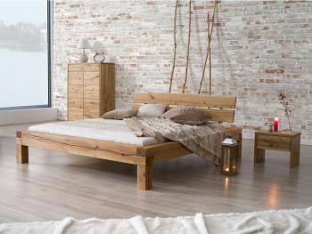 Masywne łóżko dębowe