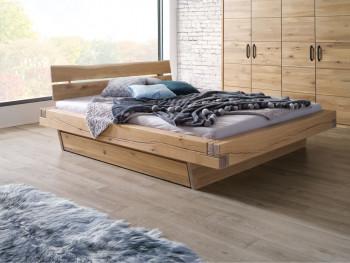 Stylowe łóżko z litego drewna dębowego