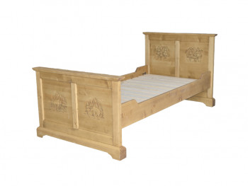 rustikální postel