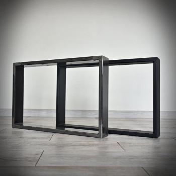 Industriální podnož ke stolové desce, KWADRO LOFT 80 x 45 cm