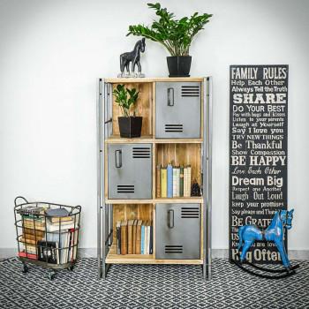 Regál / knihovna Steel wood