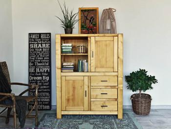 Knihovna s dveřmi a zásuvkami