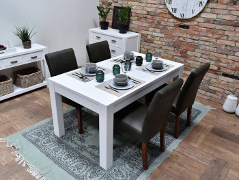 biały stół do jadalni
