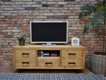 Dřevěný stolek pod televizor