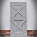 borovicové dveře šedé