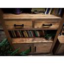 knihovna z borovicového dřeva