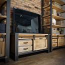 Dřevěný nábytek do obývacího pokoje