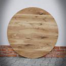 kulatá dubová deska