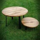 stolky z dubové desky