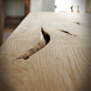 dubová deska rýhy