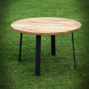 dubová deska kulatého stolu