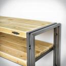 Dřevěná konzole do předsíně