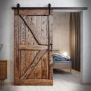 dřevěné posuvné dveře